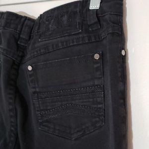 ZARA off black Jeans medium fancy stitch pockets